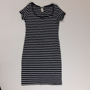 H&M Striped Bodycon Mini Dress Size XS